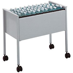 Durable ECONOMY Carrito archivador colgante, A4, capacidad para 80 archivos, acero, 66 x 37 x 59cm, gris