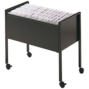 Durable ECONOMY Carrito archivador colgante, A4, capacidad para 80 archivos, acero, 66 x 37 x 59cm, negro