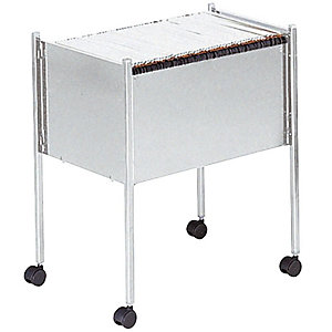 DURABLE ECONOMY hangmaptrolley, A4, 80 mappen capaciteit, staal, 66 x 37 x 59 cm, grijs