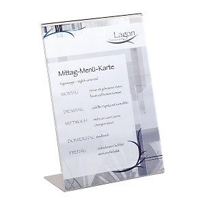 Durable Espositore da tavolo, Modello a L, A4, Trasparente