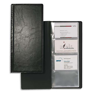 Durable Extraplano Tarjetero para 192 tarjetas, negro