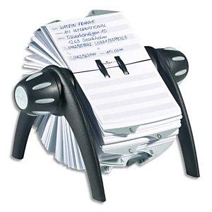 DURABLE Fichier Telindex rotatif pour fiches contact livré avec 25 onglets alphabétiques - Noir