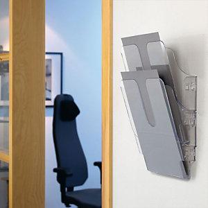 Durable Flexiplus 2 Espositore a 2 scomparti, A4, Trasparente