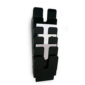 Durable Flexiplus Portabrochure, Fissabile a parete, 2 vani, 23 mm, A4, 360 x 250 x 100 mm, Nero
