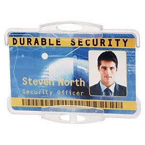 Durable Funda rígida abierta para 1 tarjeta de identificación o pase de seguridad
