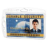 Durable Funda rígida cerrada para 1 tarjeta de identificación o pase de seguridad