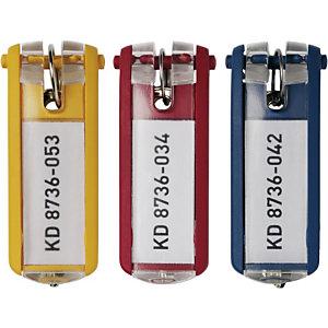 Durable Key Clip Portachiavi identificativi, Plastica, Colori assortiti (confezione 6 pezzi)