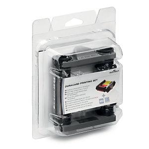 Durable Kit di stampa per stampante Duracard ID 300, 1 nastro a colori + 100 tessere neutre bianche spessore 0,76 mm