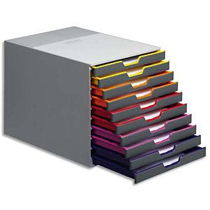 Durable Module de classement Varicolor 10 tiroirs multicolores - Dimensions : L29,2 x H28 x P35,6 cm