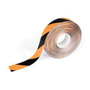 Durable Nastro segnaletico da pavimento Duraline Strong 2, Antiscivolo, 50 mm x 30 m, Giallo/Nero
