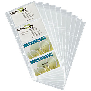 Durable Page pour carte de visite, VISIFIX CENTIUM, 57 x 90mm, capacité de 8cartes, transparent