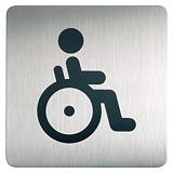 Durable Pictograma cuadrangular de señalización - WC Minusválidos