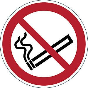 Durable Pictogramme de signalisation au sol permanent - Interdiction de fumer - Diamètre 43 cm
