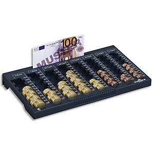 DURABLE Planche de comptage Euroboard L - 8 compart pièces+1 rangemt billets - L324 x H34 x P190 mm