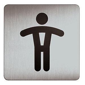 DURABLE Plaque design carré toilettes hommes.