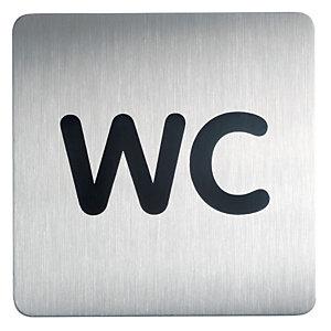 DURABLE Plaque d'intérieur carré WC DURABLE