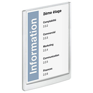 Durable Plaque de porte Click Sign A4 Bleu