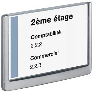 Durable Plaque de porte Click Sign A5 Gris