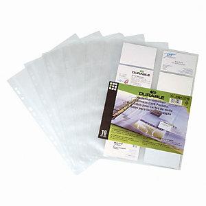 DURABLE pochettes cartes de visite pour Visifix (Lot de 10)