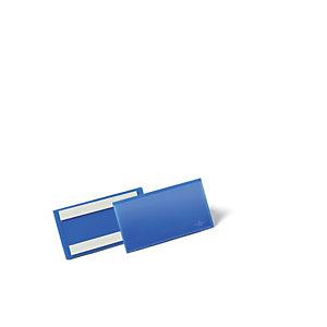 Durable Pochettes logistiques adhésives - 150 x 67 mm- Bleu