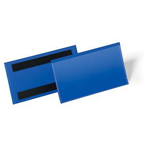 Durable Pochettes logistiques magnétiques - 150 x 67 mm- Bleu