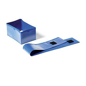 Durable Pochettes porte-étiquette logistique pour pied de palette - 145 x 75 mm - Bleu