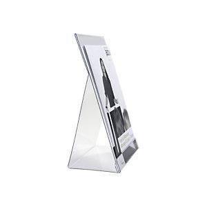 Durable Porta brochure da tavolo, A4, Trasparente (confezione 2 pezzi)