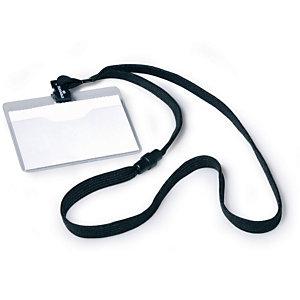 Durable Porta nomi con cordoncino - Colore nero (confezione 10 pezzi)