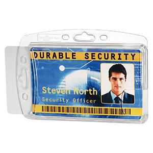 Durable Portatarjetas, 54x85 mm, transparente