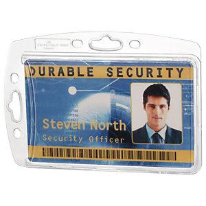 Durable Porte-badge de sécurité fermé pour 1 carte 54 x 85 mm, sans attache - Transparent