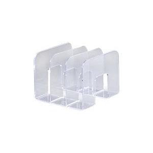 DURABLE Porte-catalogue TREND, 3 compartiments - Transparent (Lot de 2)