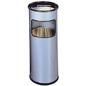 Durable Posacenere gettacarta con sabbia, capacità 19 l, Argento metallizzato