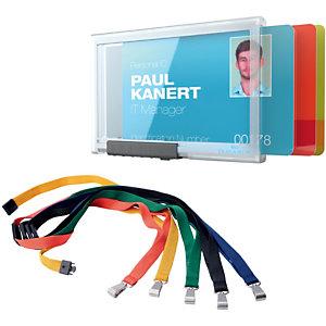 Durable Pushbox Portabadge, 1 comparto (confezione 10 pezzi)