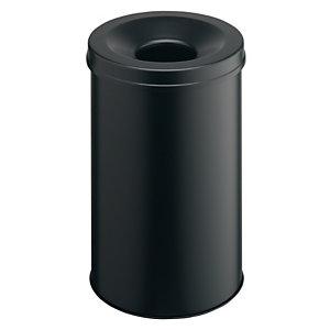 Durable Safe 30 Cestino con portacenere autoestinguente, Capacità 30 litri, Nero