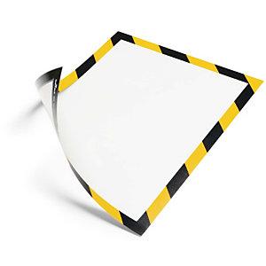 Durable Security marco magnético personalizable A4 - amarillo y negro