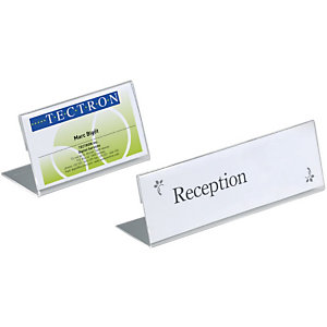 Durable Segnaposto da tavolo, Trasparente, 10 x 5,2 cm (confezione 10 pezzi)