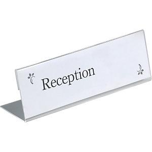 Durable Segnaposto da tavolo, Trasparente, 21 x 6,1 cm (confezione 10 pezzi)