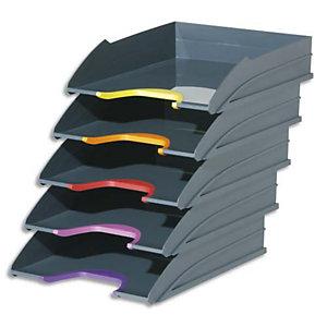 Durable Set de 5 corbeilles à courrier Varicolor - Dimensions : L34 x H35 x P26,5 cm coloris assortis