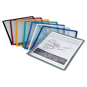 Durable SHERPA Panel de presentación, A4, marco negro