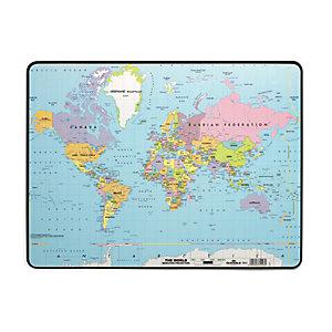 Durable Sottomano, Mappa del mondo, Antiscivolo, 40 x 53 cm