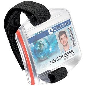 Durable Support pour brassard porte-badge, lanière pour le bras ajustable, transparent