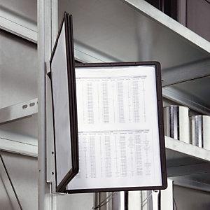 DURABLE Support mural magnétique VARIO®, système de consultation SHERPA® format A4, métallique, noir