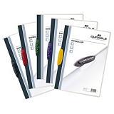 Durable Swingclip®, Dossier de pinza, A4, polipropileno, 30 hojas, transparente con clip colores surtidos