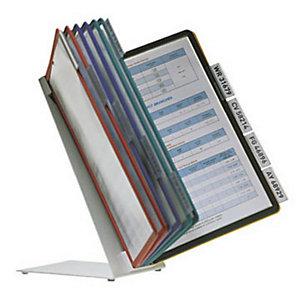 Durable Système de panneau d'affichage de table VARIO®, 10compartiments, A4, couleurs assorties