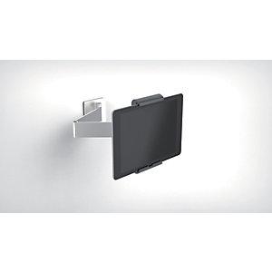 Durable Tablet holder da parete con braccio di estensione, 380 x 170 x 70 mm, Argento