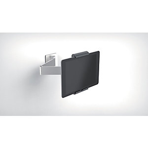 Durable Tablet holder da parete con braccio di estensione, 380 x 170 x 70 mm, Argento