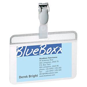 Durable Tarjetas de identificación, 54 x 90 mm, Transparentes