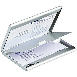 Durable Tarjetero de aluminio duo