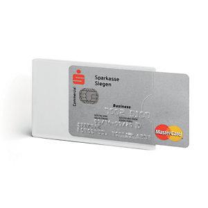 Durable Tasca porta carte di credito, Protezione carte RFID, 61 x 90 mm, Trasparente (confezione 3 pezzi)