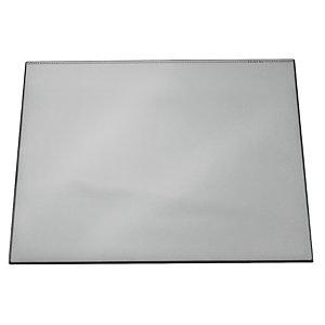 Durable Vade de escritorio con cubierta transparente, color gris, 65 x 52 cm